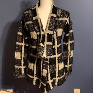 Women's Black and Tan cardigan. Size small!